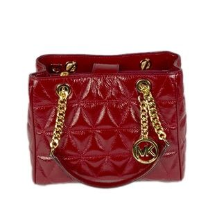 a757735d7a93 Michael Kors Bags - Michael Kors Sausannah Cherry MD Tote Leather